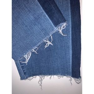Ava & Viv 26W Cropped Dark Stripe Jeans